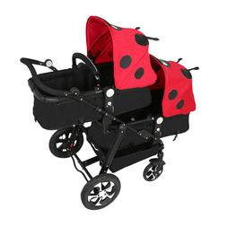 Twins Baby Stroller Portable Carriage Double Lightweight tra