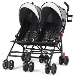 Two Seat Double Twin Baby Stroller Wagon Car Umbrella Kid Ch
