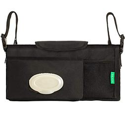 Universal Stroller Organizer with Cup Holders, Adjustable fo