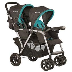Dream On Me Villa Tandem Stroller, Black and Sapphire Blue