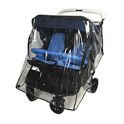 Weather Shield for Double Stroller Universal Side by Side Ba
