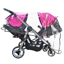 Weather Shield Double Stroller Rain Cover Universal Full Pro